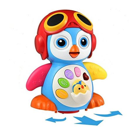 bbf2206471 Aipa Baby Musical Penguin Toys EQ& Intelligence Training , Battery Operated  with Swing ,Walking , Light, Voice Answers,Best Toys for Babies.