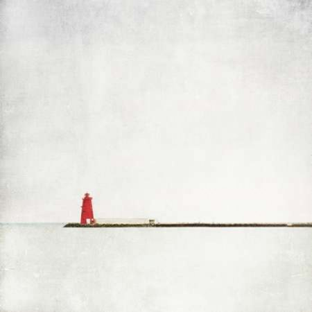 Posterazzi Meet Me at the Red Lighthouse Canvas Art - Margaret Morrissey (24 x 24)