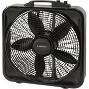 "Lasko Weather-Shield Select 20"" Box Fan with Thermostat, Black"