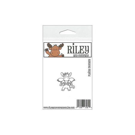 R&C Cling Stamp Flying Monkey