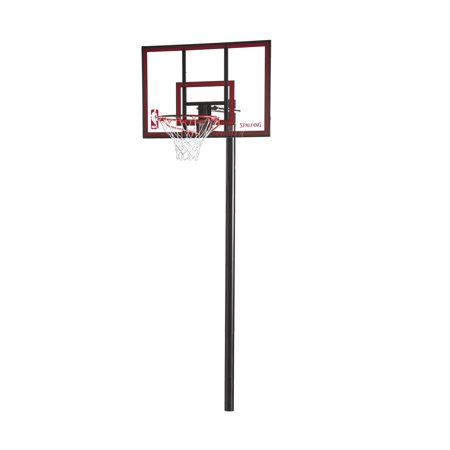 Spalding Nba 44 Polycarbonate Ratchet Lift In Ground Hoop System