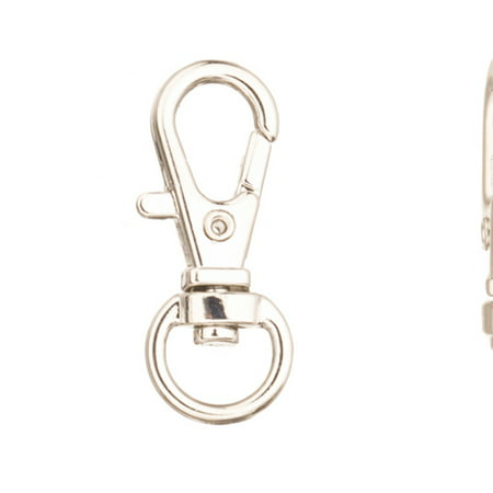 Lobster Swivel Clasps - Swivel Base Lobster Claw Clasp, Platinum-Finished Large Finding Clasp 32x13mm Sold per pkg of 6