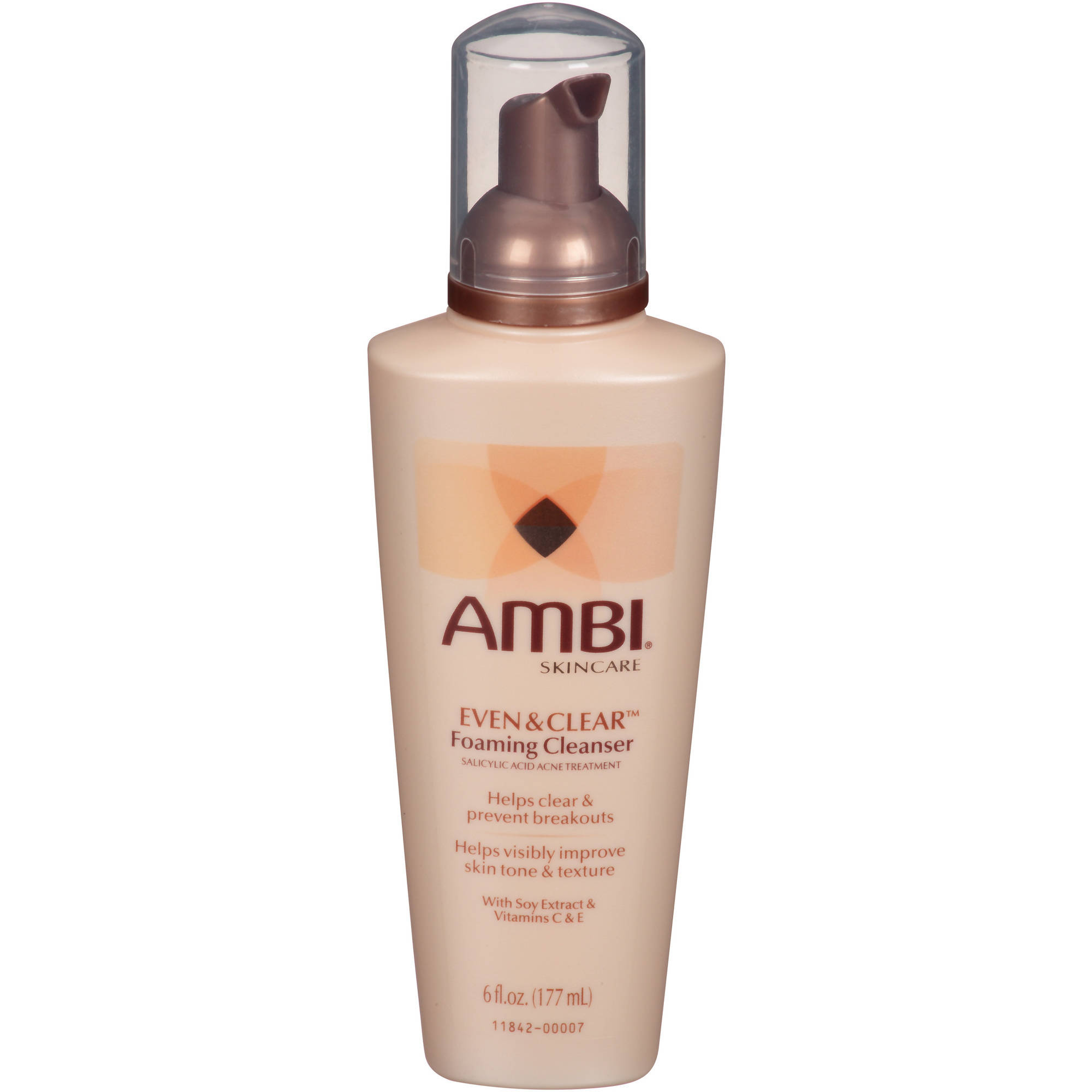 Valeant Pharmaceuticals North America LLC Ambi Even and Clear Foaming Cleanser, 6 Oz