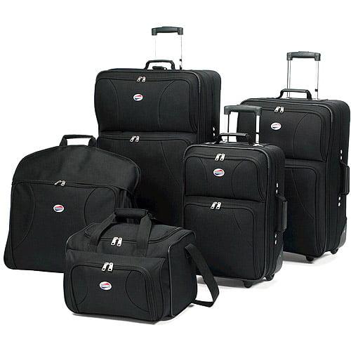 American Tourister 5-Piece Luggage Set, Black