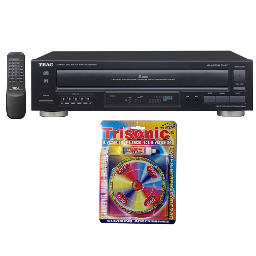 Teac 5-Disc Carousel CD Player with Remote (12-PD-D2610MK2) with Trisonic Laser Lens Cleaner for DVD CD Players by TEAC