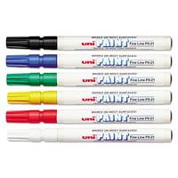 Sanford uni-Paint uni-Paint Markers, Fine Point, Assorted, 6/Set -SAN63720
