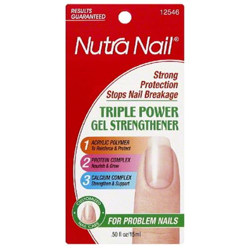 Nutra Nail Triple Power Gel Strengthener 0.50 oz (Pack of 2)