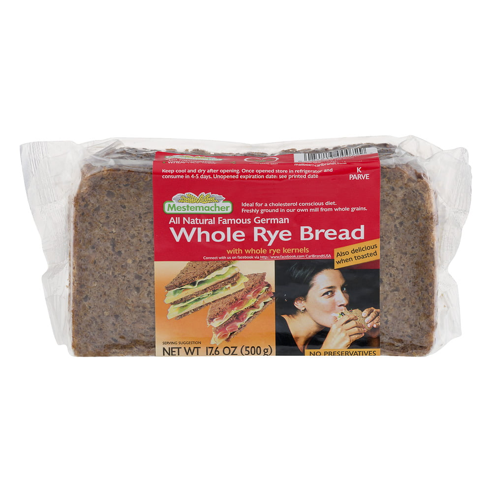 Mestemacher Whole Rye Bread, 17.6 OZ by Carl Brandt