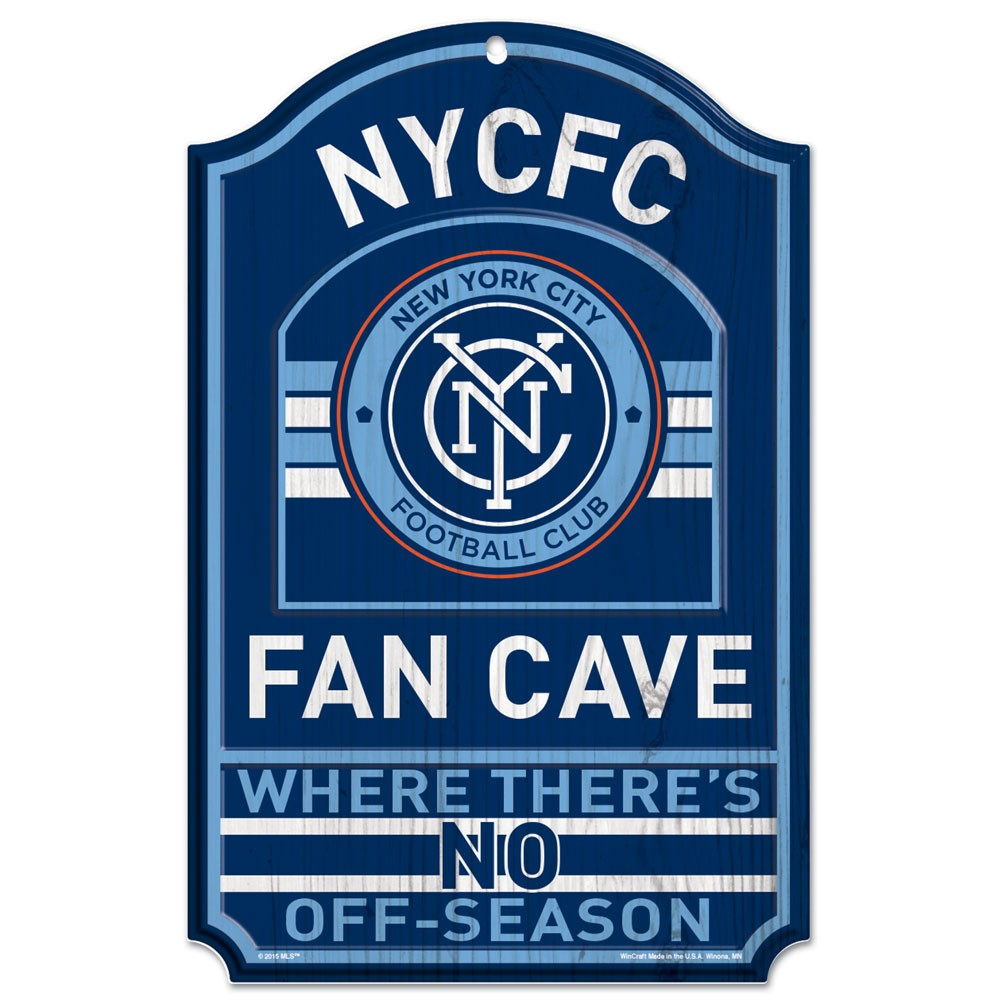 "New York City FC WinCraft 11"" x 17"" Wood Sign - No Size"