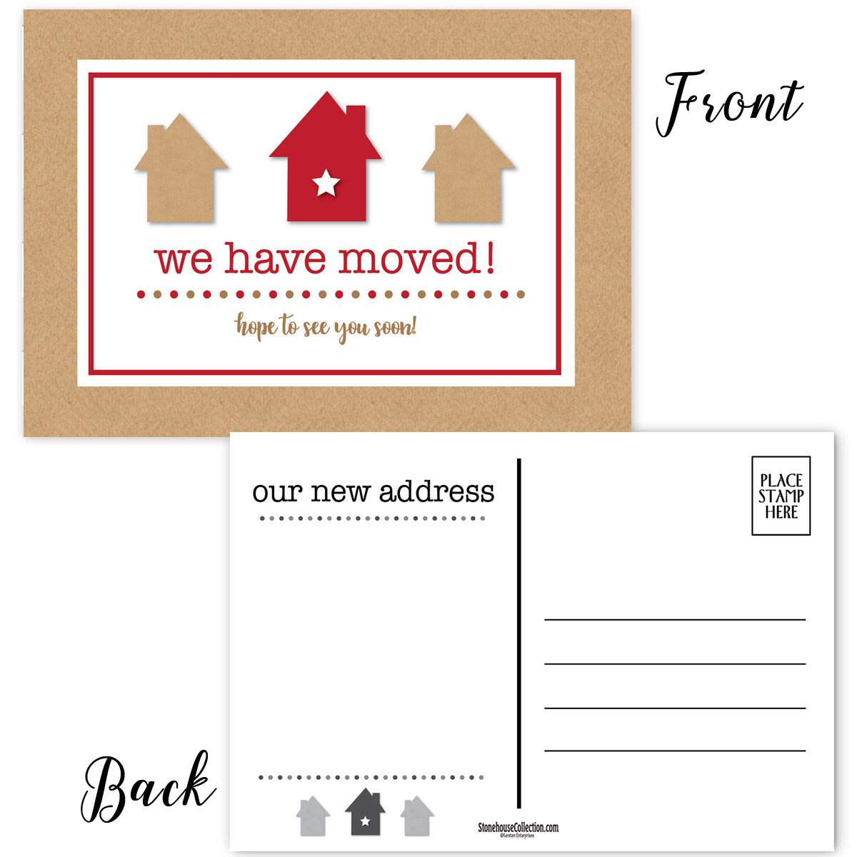 We Have Moved Postcards 50 New Address Cards Moving