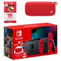 32GB Nintendo Switch w/Mario Red Joy-Con + $20 Nintendo Credit + Case