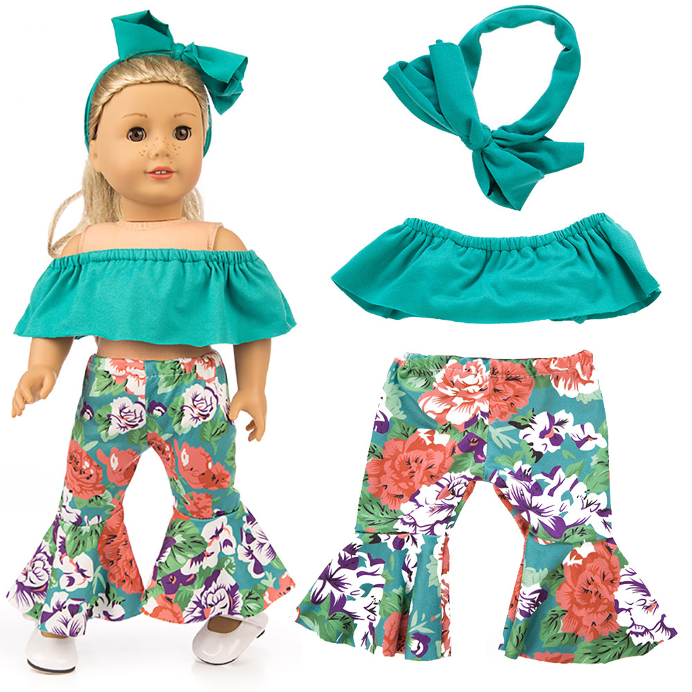 Doll Baby Clothes Pants Suit For 18 Inch American Girl Doll Accessory Toy GN