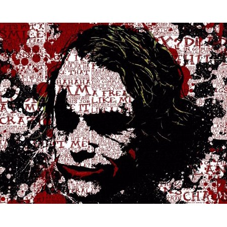 Joker Batman The Dark Knight Movie Silk Fabric Cloth Poster Picture Painting Art Wall Home Decor 17 X 13