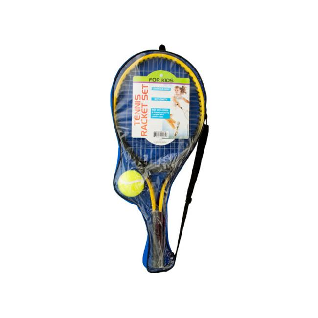 Bulk Buys OD917-2 Kids Tennis Racket Set With Ball