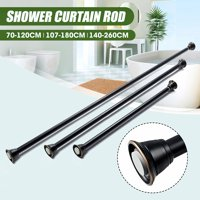 Adjustable Shower Curtain Tension Rod, Easy-Hang Stainless Steel Extendable Telescopic Shower Curtain Pole Rod Bath Door Window,27~47inch,42~72inch, 55~102inch