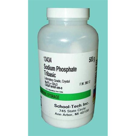Olympia Sports 13434 Sodium Phosphate  Tribasic   Tsp  Lab Grade  Crystal   500G