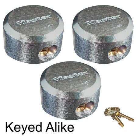 Master Lock - 6271KA-3 - (3) Hidden Shackle Padlocks - Keyed Alike Trailer/Vending Locks - Keyed Alike Colored Padlocks
