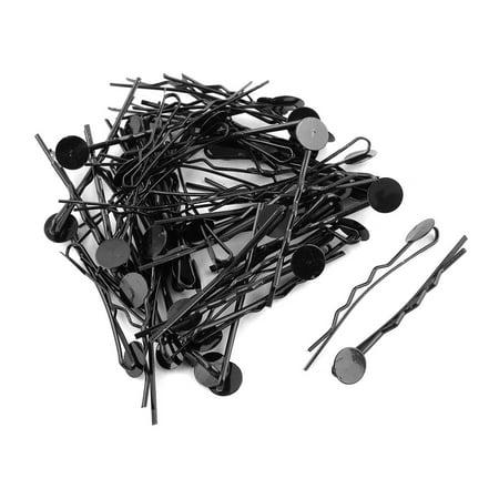 Hairdressing Barrette DIY Craft Hairpin Hair Clips Bobby Pin Black 50 Pcs - image 1 de 3