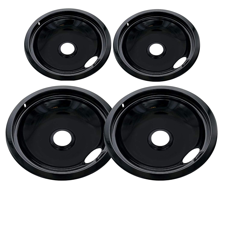 ClimaTek Range 8 Black Porcelain Burner Drip Bowl fits Kenmore Frigidaire 318067080 AP4553983 1613899
