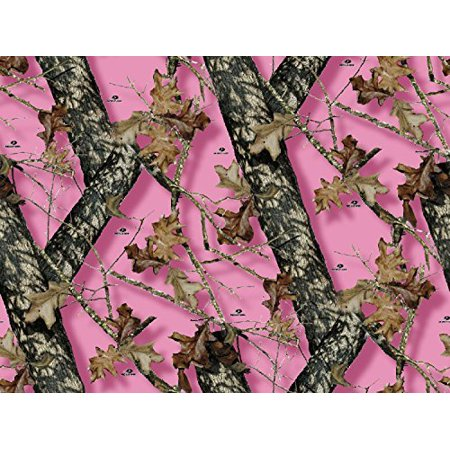Mossy Oak Pink Camo Branch Edible Cake Topper Frosting 1/4 Sheet Birthday Party - Camo Birthday Cake