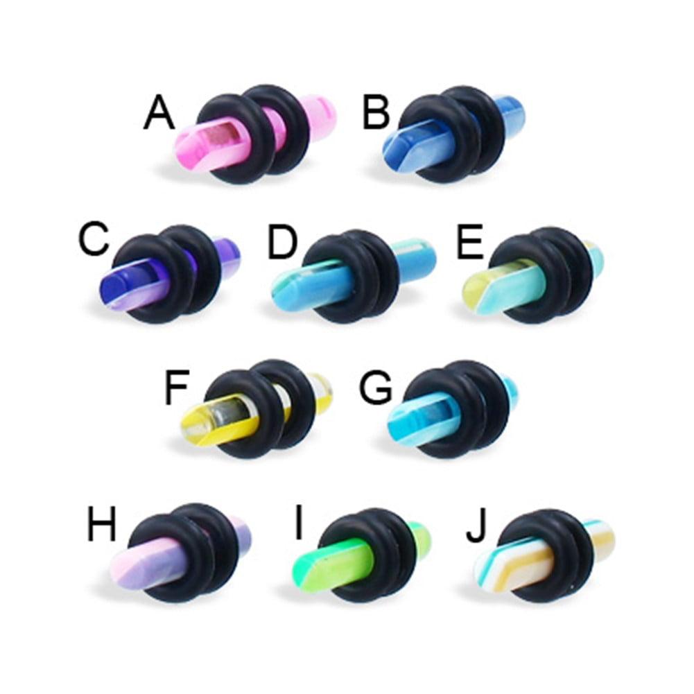 10 Gauge Striped Plug,A - Pinky