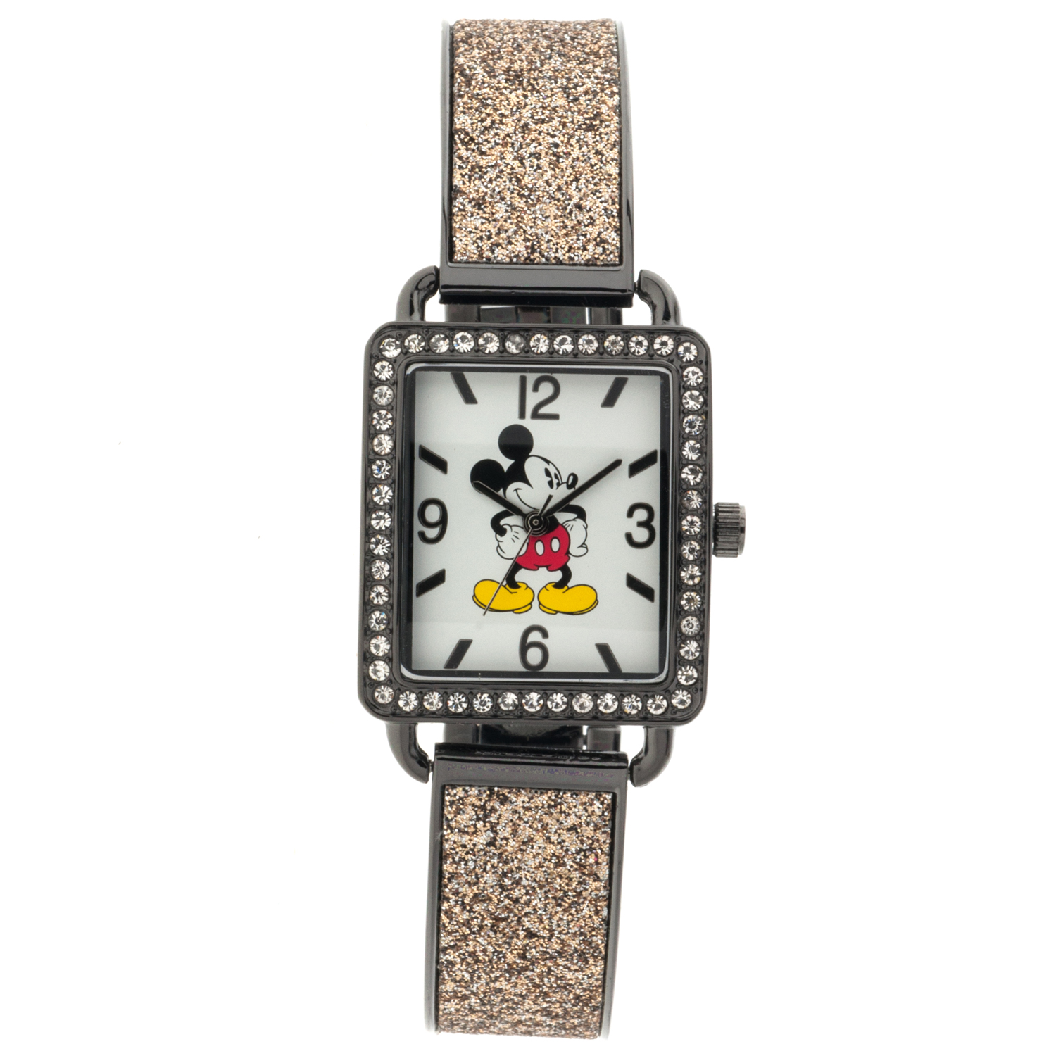 Mickey Mouse Women's Analog Watch, Gold