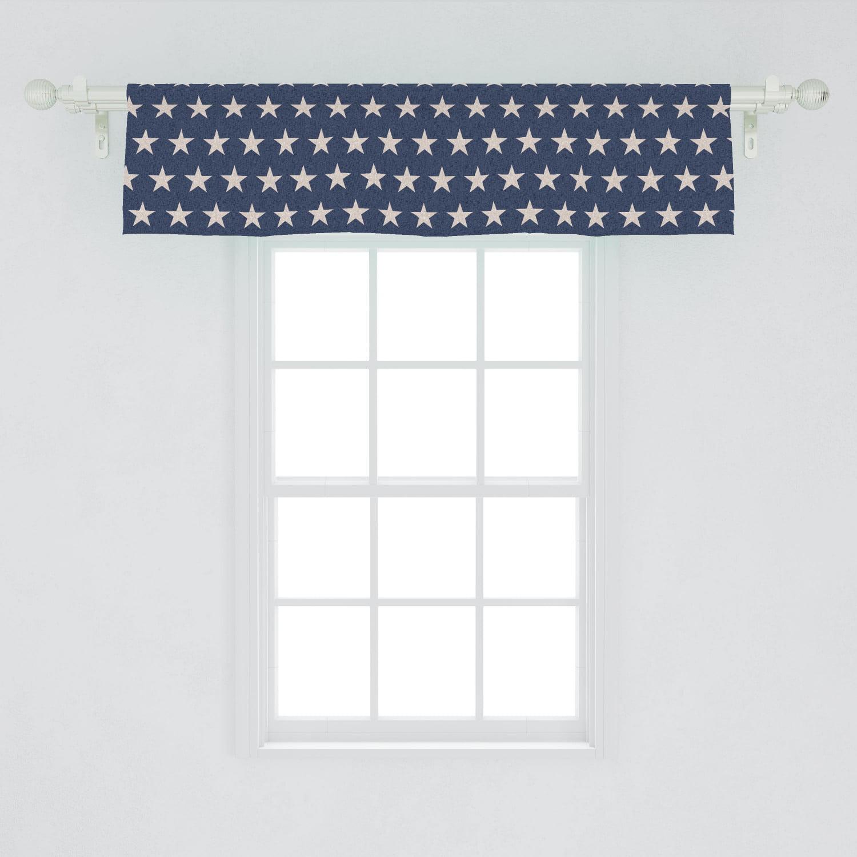 Americana Valance American Flag Window Covering Patriotic Curtains Denim Valances