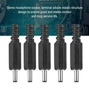 ANGGREK DC Power Plug Jack, 5pcs Power Plug, For Small Electronics Projects CCTV Applications
