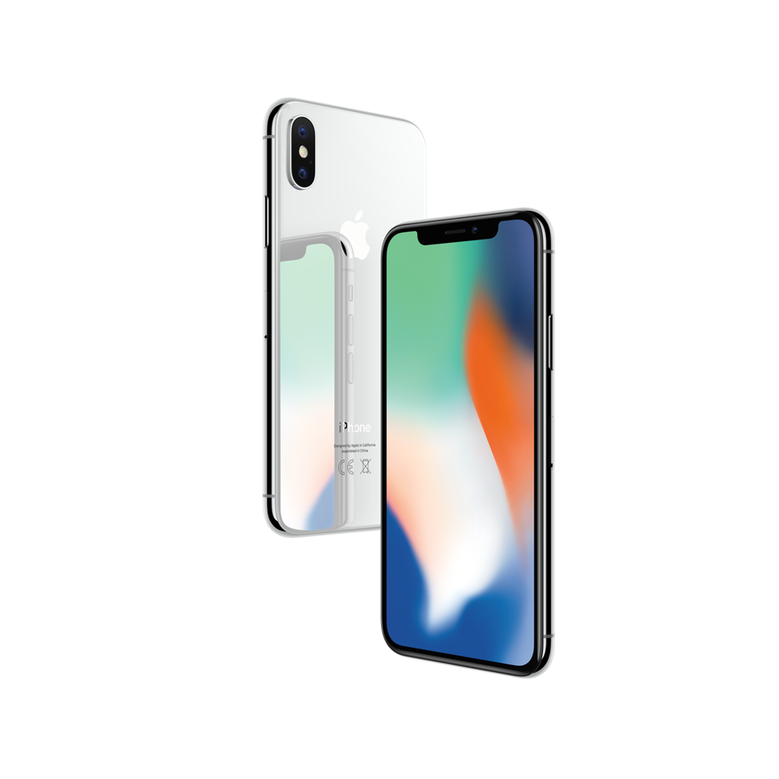 Refurbished Apple iPhone X 256GB, Silver - Unlocked LTE