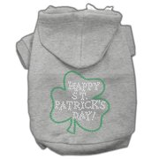 Mirage 54-36 SMGY Happy St Patrick`s Day Dog Hoodie Grey S