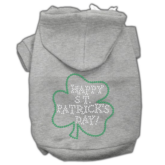 Mirage 54-36 LGGY Happy St Patrick's Day Dog Hoodie Grey L