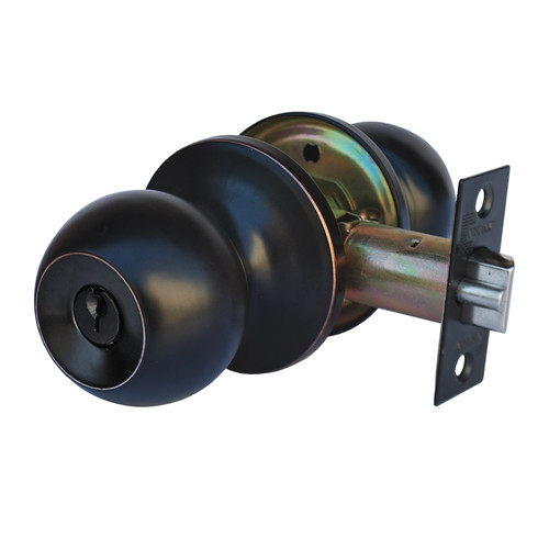 Constructor Chronos Entry Door Knob Handle Lock Set Oil Rubbed Bronze Finish