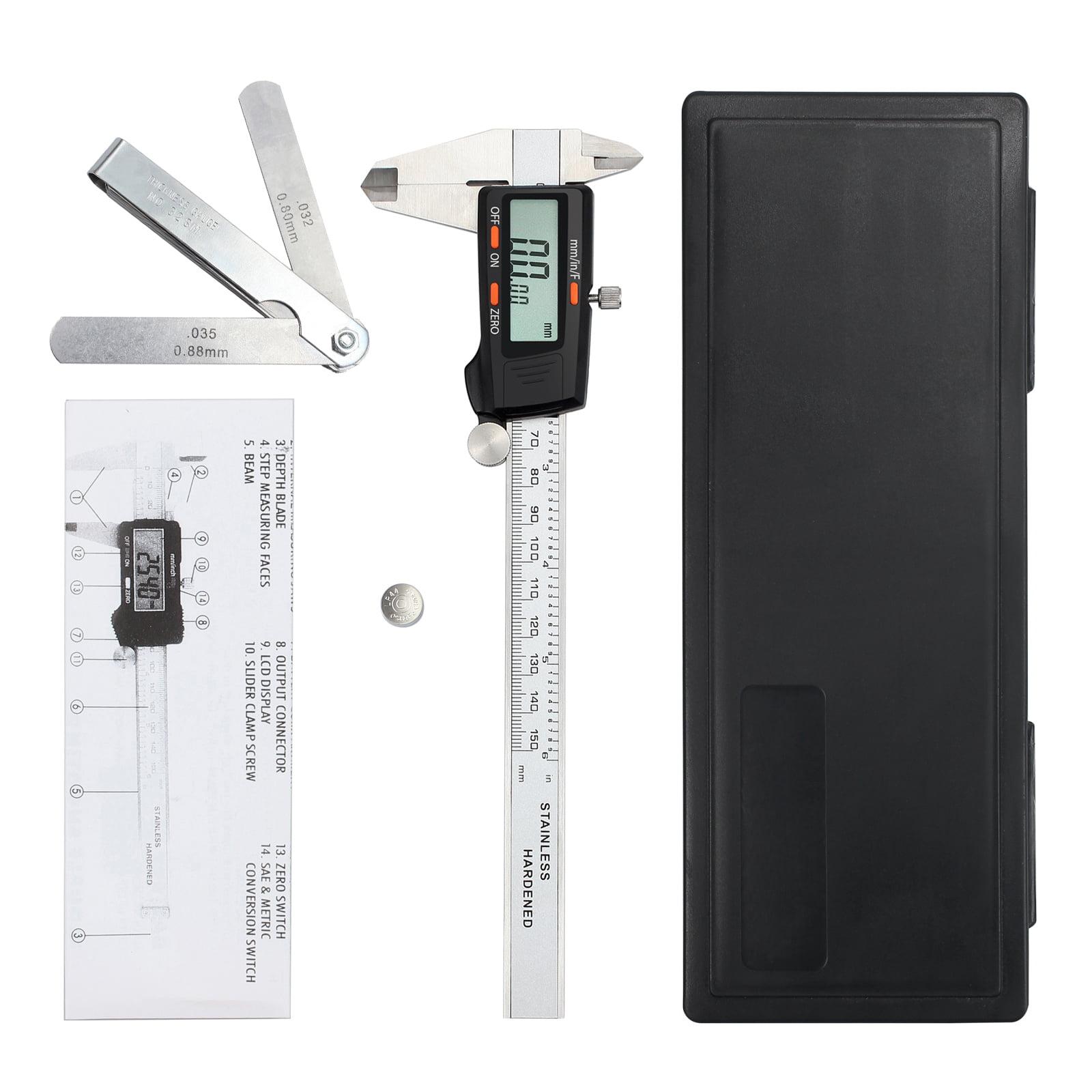 eSynic Digital Vernier Caliper with Feeler Gauge 150mm and 6