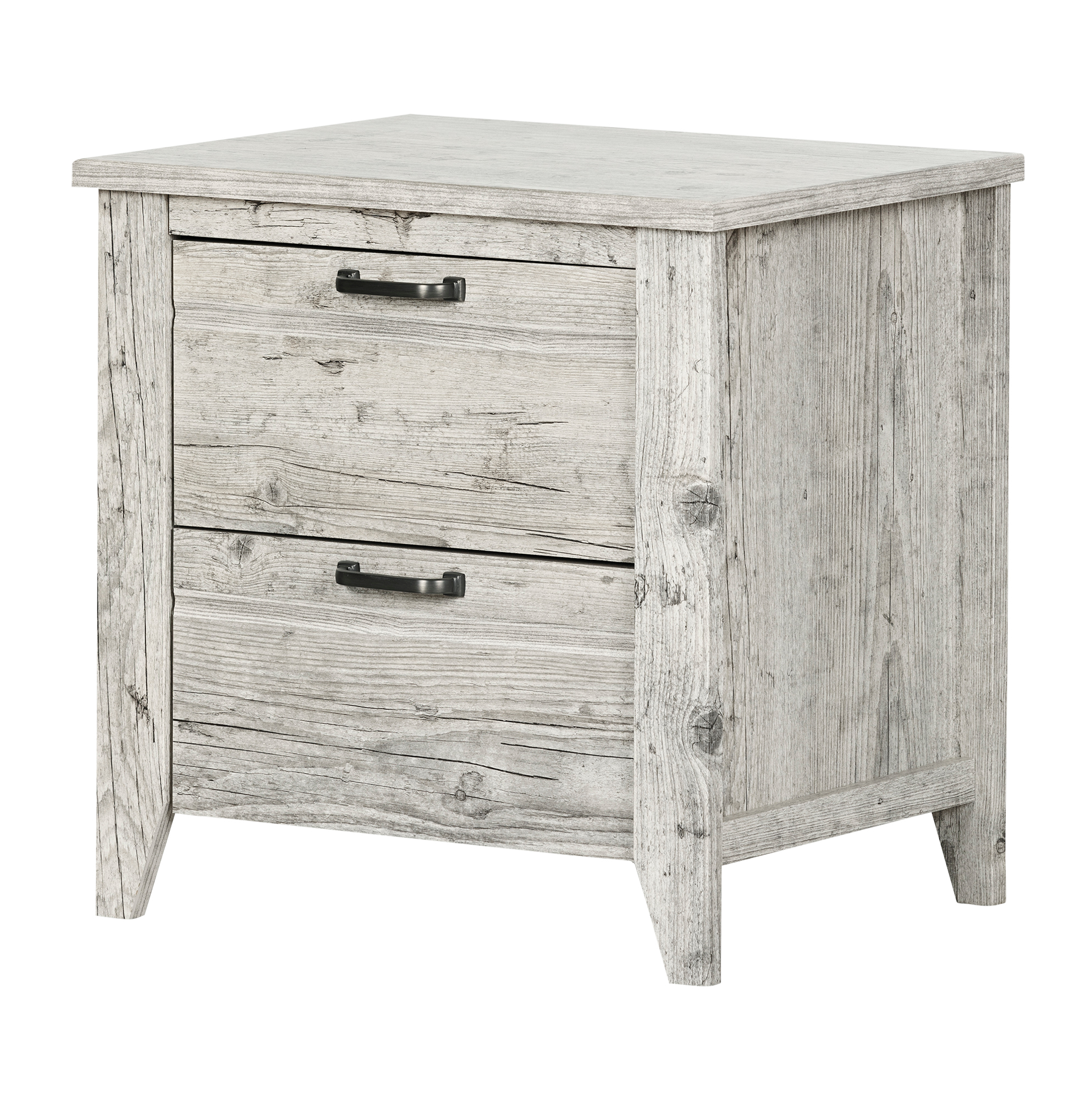 South Shore Lionel 2-Drawer Nightstand, Multiple Finishes