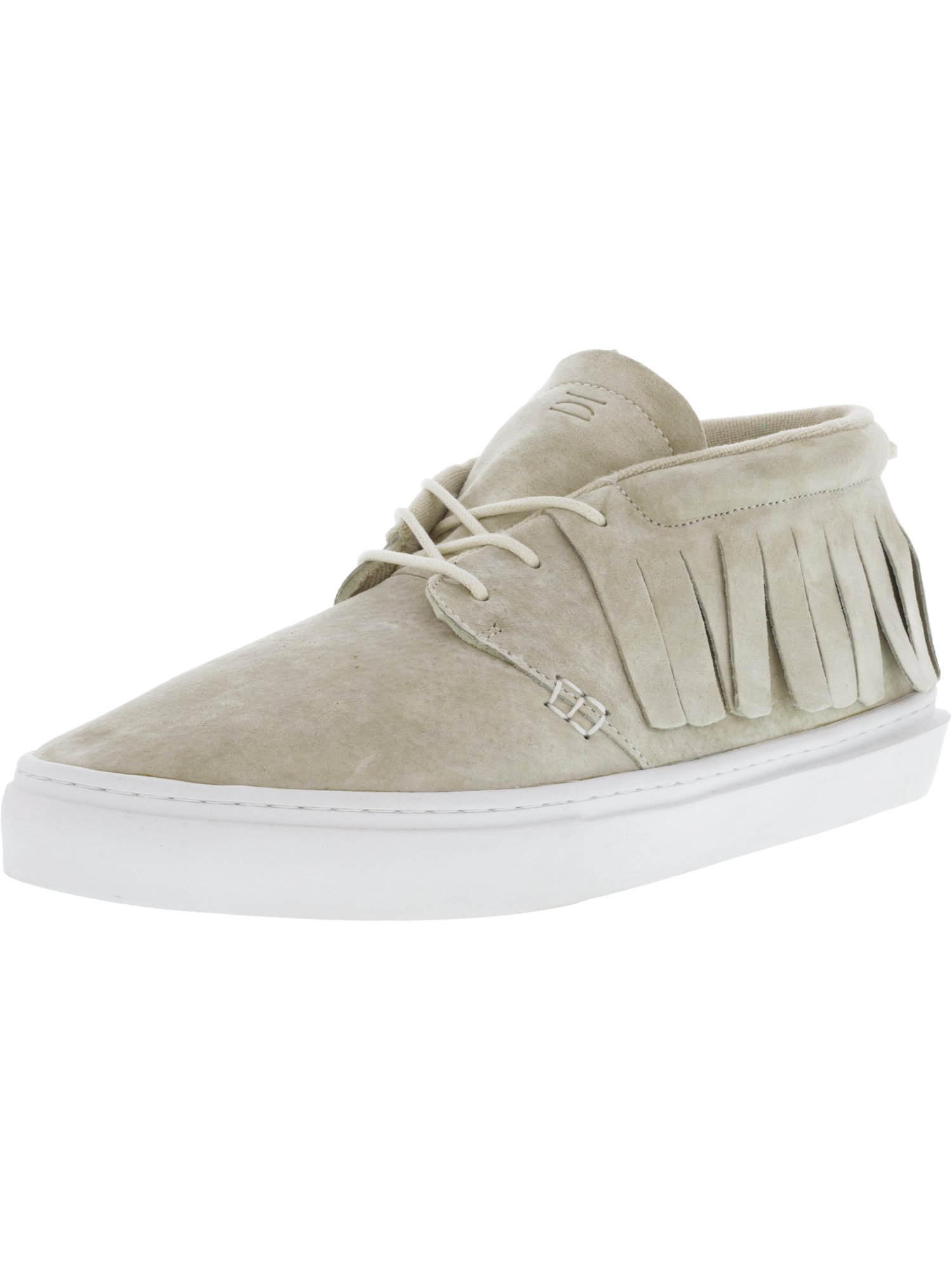 Clear Weather Men's One-O-One Gream Mid-Top Leather Fashion Sneaker - 12M