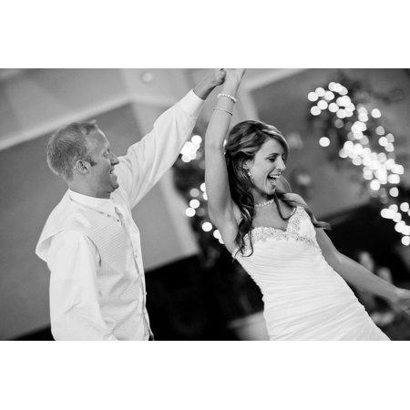Canvas Print Groom Party Celebration Bride Fun Dance Wedding Stretched Canvas 10 x -