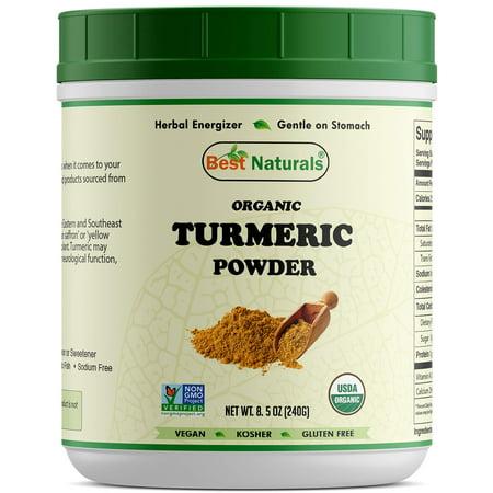 Best Naturals Certified Organic Turmeric Curcumin Powder 8.5 OZ (240 Gram), Non-GMO Project Verified & USDA Certified