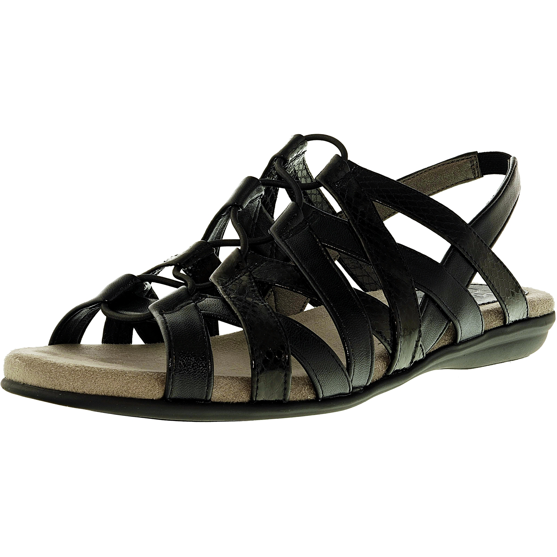 Lifestride Women's Behave Faux Leather White Sandal 9.5M by Lifestride