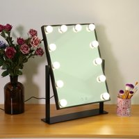 Anauto Vanity LED Makeup Mirror, LED Lights Makeup Mirror,12LEDs Hollywood Style Dimmable Table Bulbs Vanity Makeup Mirror Lights USB Powered 110-240V US