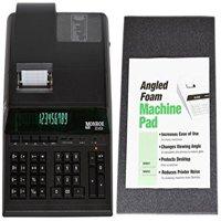 Monroe 8145X 14-Digit Printing Calculator With Foam Elevation Wedge (Calculator With Foam Elevation Wedge, Black)