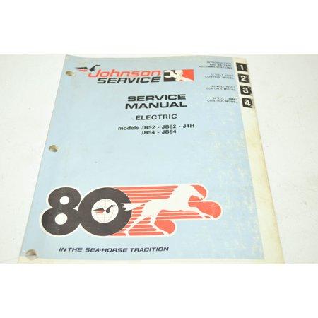 (Johnson JM-8001 Electric Models JB52 54 82 84 J4H Service Manual QTY 1)