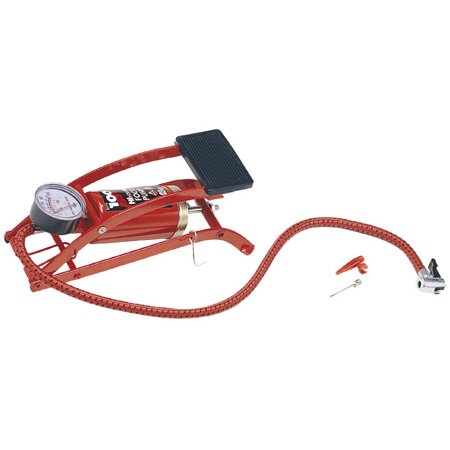 Custom Accessories 57777 Air Master Compact Foot Pump with Gauge ()