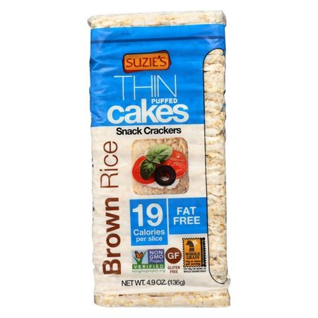 (Suzie's Whole Grain Thin Cakes - Brown Rice - pack of 12 - 4.9 Oz.)