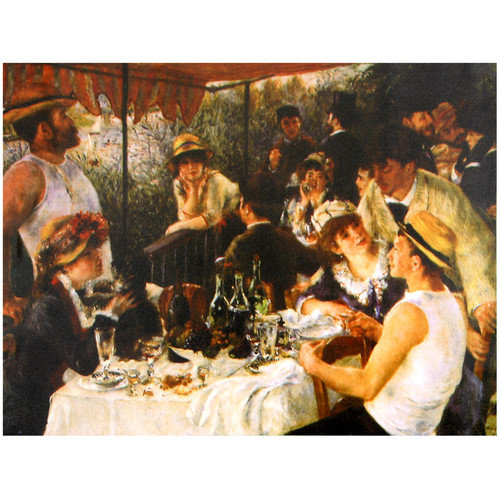 Oriental Furniture 'Luncheon' by Renoir Painting Print on Wrapped Canvas