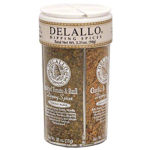 DeLallo Sundried Tomato & Basil Dipping Spices, 4 oz (Pack of 6)