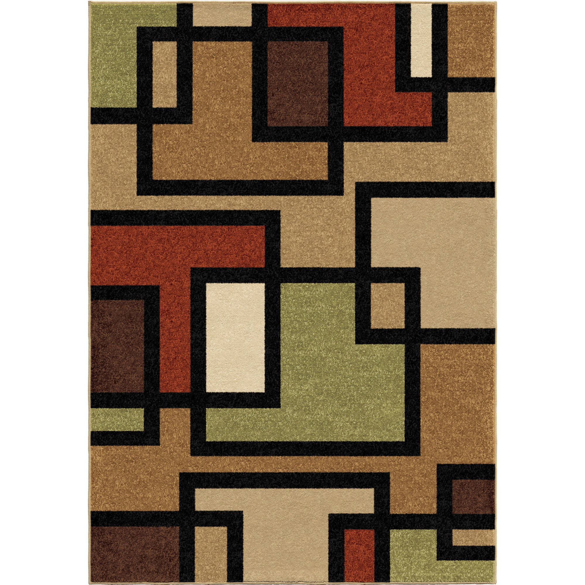 Orian Rugs Blended Blocks Area Rug, Multi Color   Walmart.com Images