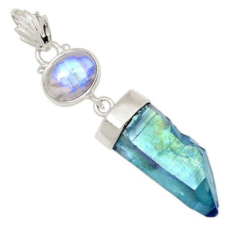 Xtremegems aqua aura quartz moonstone 925 sterling silver pendant xtremegems aqua aura quartz moonstone 925 sterling silver pendant jewelry 18137p aloadofball Images