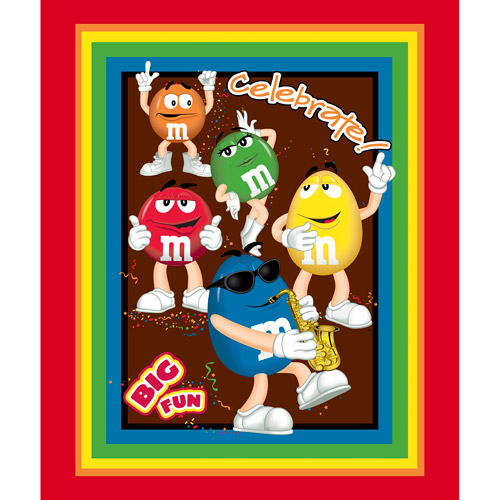 M&Ms Big Fun Wall Hanging Fabric
