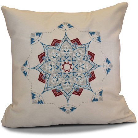 "Simply Daisy 16"" x 16"" Snowflake Star Geometric Print Pillow"