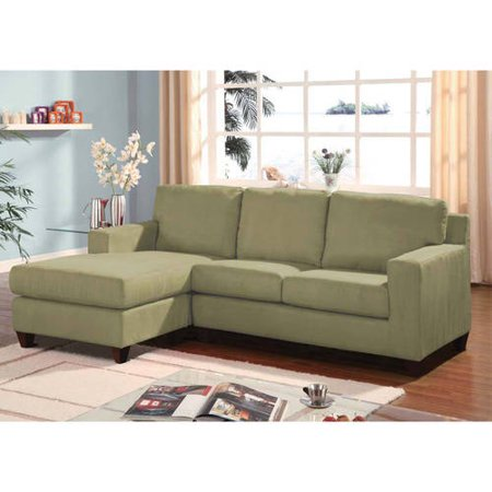 Acme Vogue Microfiber Reversible Chaise Sectional Sofa, Multiple Colors